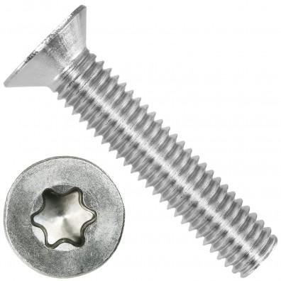 200 Senkschrauben DIN 965, Edelstahl A4, Torx 30, Senkkopf 6 x 30 mm