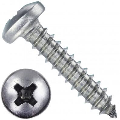 1000 Blechschrauben DIN 7981 - 4,2x19 mm - Linsenkopf - Phillips - Edelstahl A4