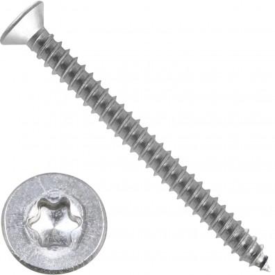 500 Blechschrauben DIN 7982 - 3,9x45mm - Senkkopf – TX15- Edelstahl A2