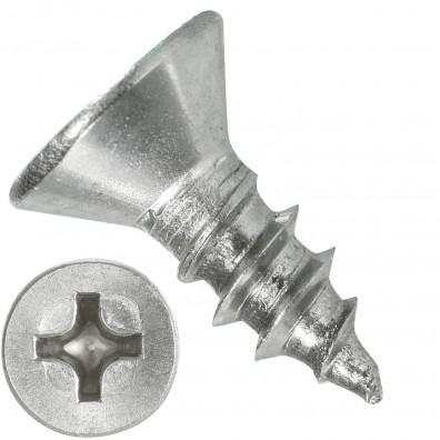 1000 Blechschrauben DIN 7982 - 3,5x9,5 mm - Senkkopf - Phillips - Edelstahl A4