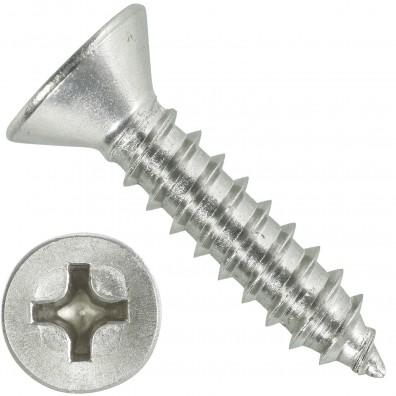 1000 Blechschrauben DIN 7982 - 4,8x22 mm - Senkkopf - Phillips - Edelstahl A4