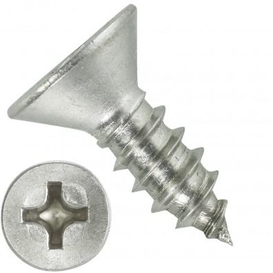 1000 Blechschrauben DIN 7982 - 5,5x16 mm - Senkkopf - Phillips - Edelstahl A4
