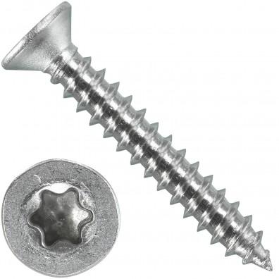 1000 Blechschrauben DIN 7982 - 2,9x19 mm - Senkkopf - Torx - Edelstahl A4