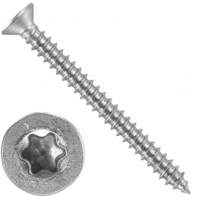 1000 Blechschrauben DIN 7982 - 2,9x32 mm - Senkkopf - Torx - Edelstahl A4