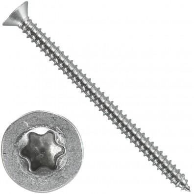 500 Blechschrauben DIN 7982 - 3,5x50 mm - Senkkopf - Torx - Edelstahl A4