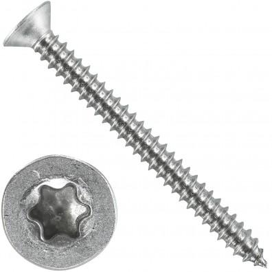 500 Blechschrauben DIN 7982 - 4,2x45 mm - Senkkopf - Torx - Edelstahl A4