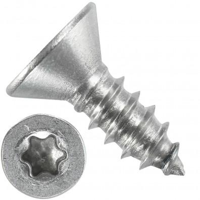 1000 Blechschrauben DIN 7982 - 4,8x16 mm - Senkkopf - Torx - Edelstahl A4