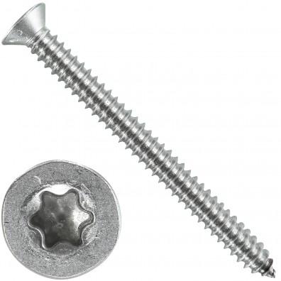 200 Blechschrauben DIN 7982 - 6,3x70 mm - Senkkopf - Torx - Edelstahl A4