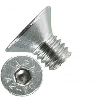 1000 Senkschrauben M 3 x 4 mm  - ISO 10642 - Innensechskant - Edelstahl A2
