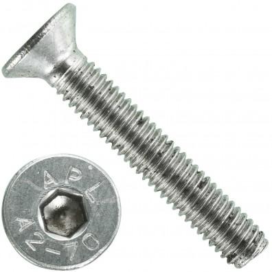 1000 Senkschrauben M 3 x 18 mm  - ISO 10642 - Innensechskant - Edelstahl A2