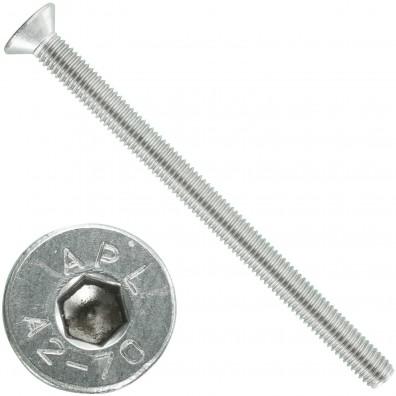 1000 Senkschrauben M 3 x 30 mm  - ISO 10642 - Innensechskant - Edelstahl A2
