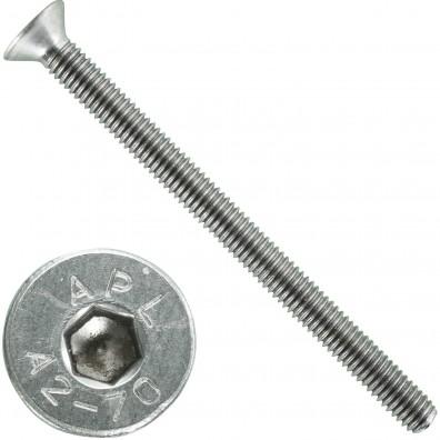 500 Senkschrauben M 3 x 40 mm  - ISO 10642 - Innensechskant - Edelstahl A2