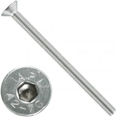 500 Senkschrauben M 3 x 45 mm  - ISO 10642 - Innensechskant - Edelstahl A2