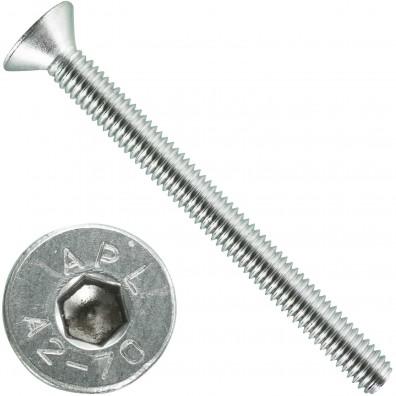 200 Senkschrauben M 4 x 45 mm  - ISO 10642 - Innensechskant - Edelstahl A2