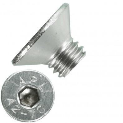 500 Senkschrauben M 5 x 6 mm  - ISO 10642 - Innensechskant - Edelstahl A2