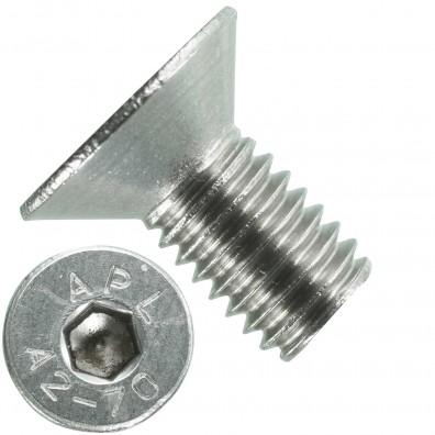 500 Senkschrauben M 5 x 10 mm  - ISO 10642 - Innensechskant - Edelstahl A2