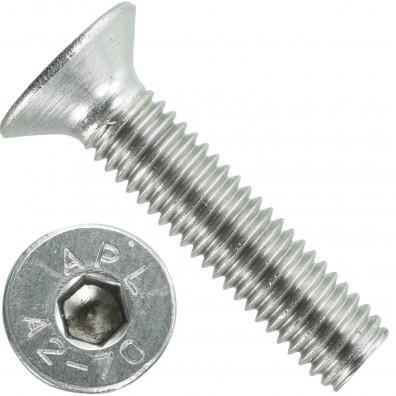 500 Senkschrauben M 5 x 22 mm  - ISO 10642 - Innensechskant - Edelstahl A2