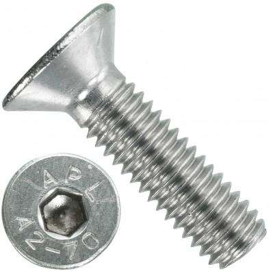 200 Senkschrauben M 6 x 22 mm  - ISO 10642 - Innensechskant - Edelstahl A2
