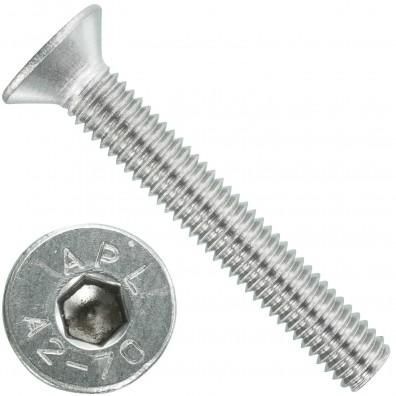 200 Senkschrauben M 6 x 40 mm  - ISO 10642 - Innensechskant - Edelstahl A2