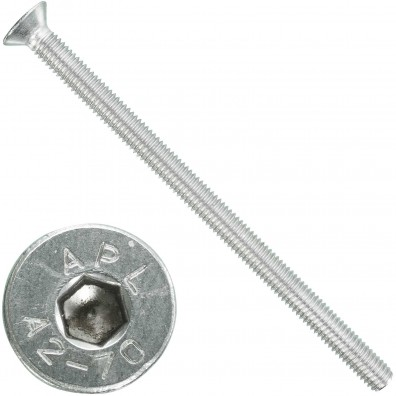 100 Senkschrauben M 6 x 100 mm  - ISO 10642 - Innensechskant - Edelstahl A2