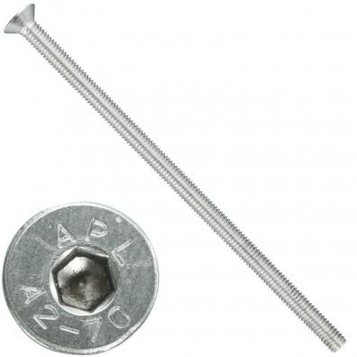 100 Senkschrauben M 6 x 130 mm  - ISO 10642 - Innensechskant - Edelstahl A2