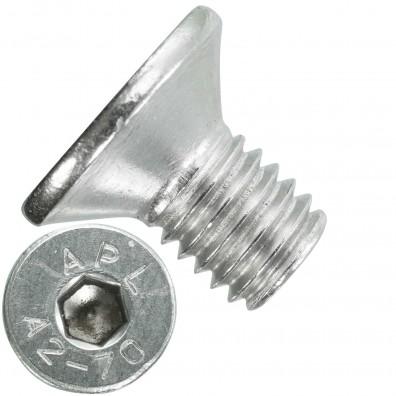 200 Senkschrauben M 8 x 14 mm  - ISO 10642 - Innensechskant - Edelstahl A2