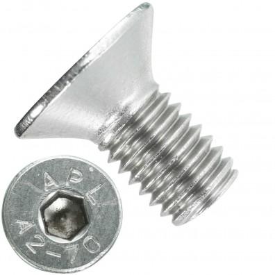 200 Senkschrauben M 8 x 16 mm  - ISO 10642 - Innensechskant - Edelstahl A2