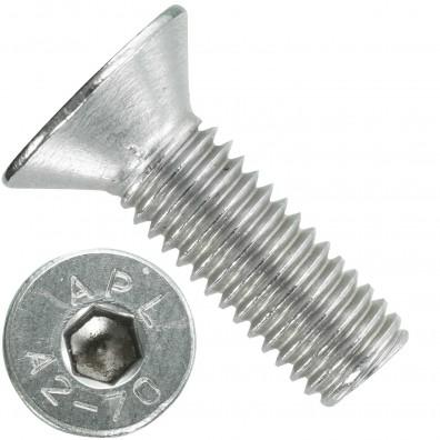 100 Senkschrauben M 8 x 25 mm  - ISO 10642 - Innensechskant - Edelstahl A2
