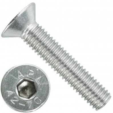 100 Senkschrauben M 8 x 40 mm  - ISO 10642 - Innensechskant - Edelstahl A2