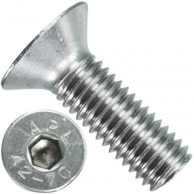 100 Senkschrauben M 10 x 30 mm  - ISO 10642 - Innensechskant - Edelstahl A2