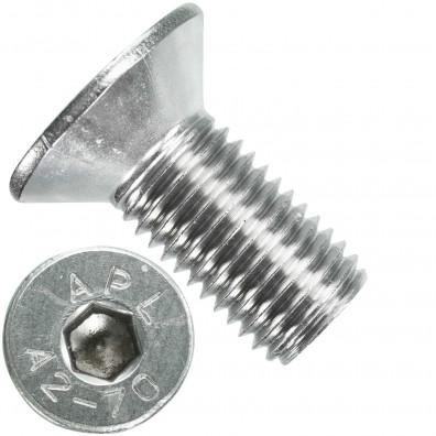 25 Senkschrauben M 16 x 35 mm  - ISO 10642 - Innensechskant - Edelstahl A2