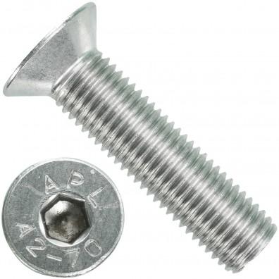 25 Senkschrauben M 20 x 80 mm  - ISO 10642 - Innensechskant - Edelstahl A2