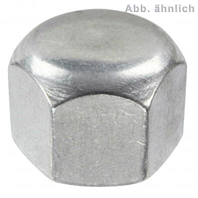 Sechskant-Hutmuttern, niedrige Form DIN 917 Edelstahl A4