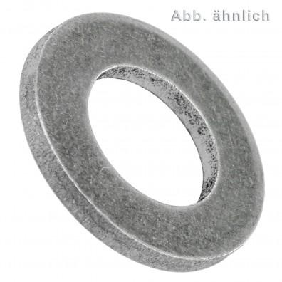 1000 Unterlegscheiben DIN 125 Form A - für M6 - Aussen Ø-=12mm - Aluminium