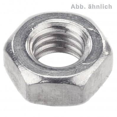 1000 Sechskantmuttern M3,5 - SW6 - Messing galv. vernickelt - DIN 934