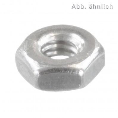 100 Sechskantmuttern M2 - DIN 934 - Edelstahl A1-A2