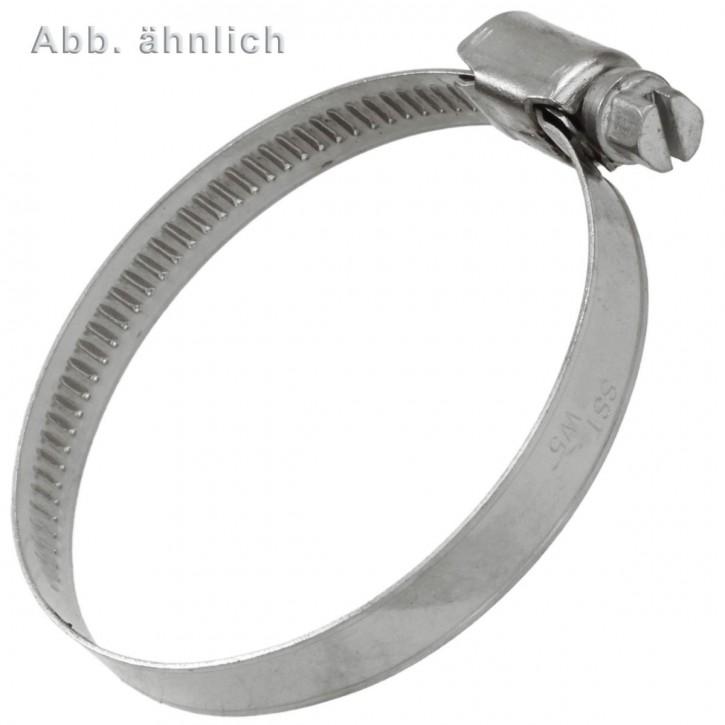 2 Schlauchschellen W5 DIN 3017 Edelstahl A4 Bandbr. 9 50-70 mm