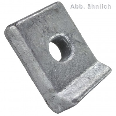 Klemmplatten - DIN 3568 - für M16 Schrauben - feuerverzinkt