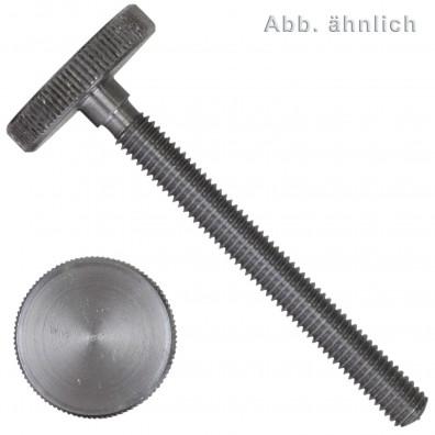 10 Rändelschrauben M8 x 20 mm - DIN 653 - niedrige Form - Edelstahl A1