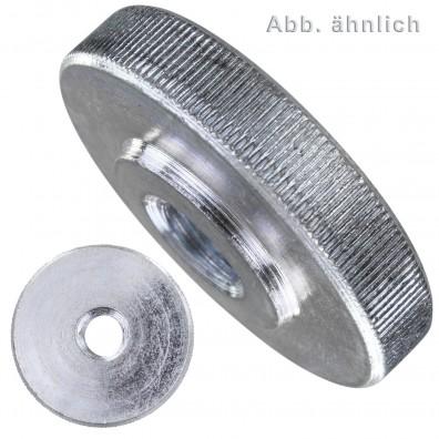 Rändelmuttern - DIN 467 - niedrige Form - galvanisch verzinkt
