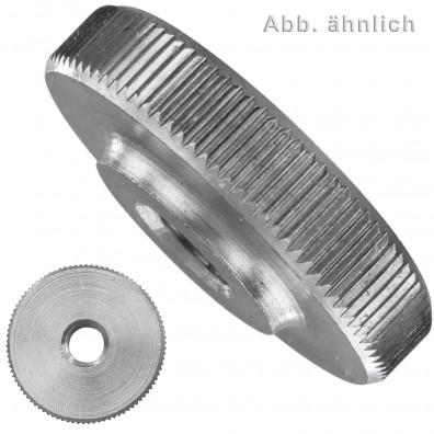 Rändelmuttern - DIN 467 - niedrige Form - Edelstahl A1/A2