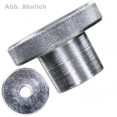 Rändelmuttern - DIN 466 - hohe Form - galvanisch verzinkt