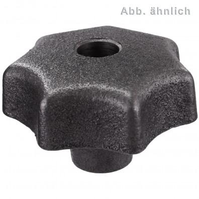 10 Sterngriffe Grauguß DIN 6336 mit Gewindedurchloch D63 M10