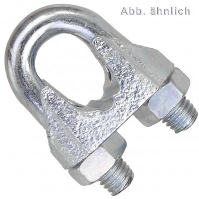 Drahtseilklemmen - DIN 741 - galvanisch verzinkt
