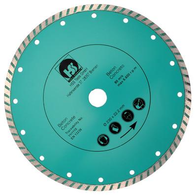 1 Diamant Trennscheibe mit 2,55 mm Stärke und turbo flachem Schneidrand 230 mm