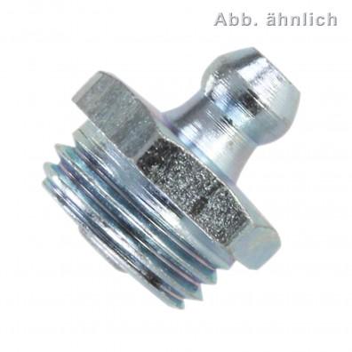 50 Kegelschmiernippel 1-4 Zoll - Form A - gerader Kegelkopf - SW14 - verzinkt
