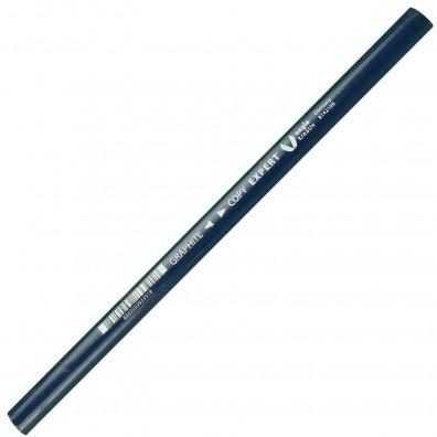 1 Zimmermanns-Blei-, Koperstift, Graphitmine , eckig-oval, Blau, Länge 240 mm