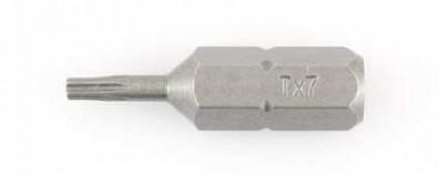 1 Torx® Bit - TX7 - 1-4 Zoll E 6,3 Hausmarke, Länge 25 mm