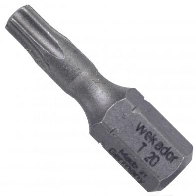 """1 Torx Bit TX20 - 25mm Länge - 1-4"""" Antrieb - Industriequalität"""