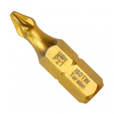 Pozidriv Torsionsbit PZ1 - Titan ISOTIN® Bits - Top Quality